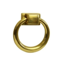 kołatka okrągła złota